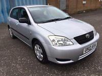 2003 Toyota COROLLA vvt i 1.4 , mot - June 2018 ,only 41,000 miles ,2 owners,focus,astra,civic
