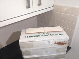Cream wall tiles 2 square metres. 4 boxes