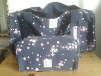 Jack Wills weekend holdall bag and wash bag with 'English Velvet' toiletries, £25.