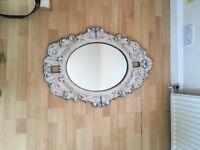 Printed wood mirror