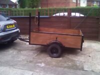 Car trailer 6x4 18-in deep