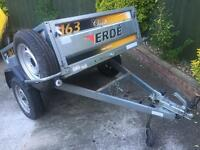 """LARGE Erde 163 tipping trailer + cover/spare wheel 13"""" wheels"""