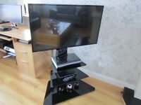 Panasonic Viera 42-inch full HD 1080p 600Hz Plasma TV + Freeview including Black Stand with Shelves