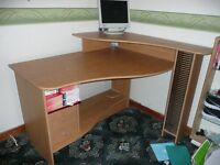computer desk large with storage