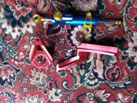 k1-3 suzuki gsxr 600 top yoke,clip ons,top mount steering damper and damper kit,
