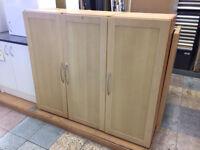 1300 X 500 X 600 Single Door Wardrobe Beech Shaker Style Door