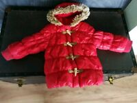 Next red winter coat size 3-4 years