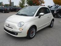 2012 Fiat 500 LOUNGE LEATHER LOADED MOONROOF 5 SPEED MANUAL