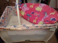 Travel cot and accessories