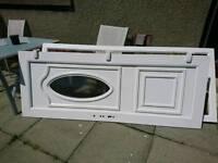 White UPVC door & frame