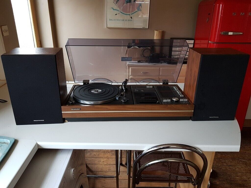 VINTAGE 1970S SHARP QUALITY STEREO MUSIC CENTER HIFI RECORD PLAYER CASSETTE  RADIO FAB SOUND GWC | in Stourbridge, West Midlands | Gumtree