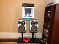 Mini component oudio system Samsung MAX ZJ650 and Auto return Turntable System Sony PS-J20