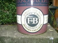 Farrow and Ball Modern emulsion large tin 2.5 litres new