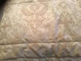 Jillian Charles thick quilted heavy bed throw in excellent condition