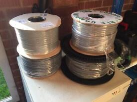 5 rolls of twin and earth cable