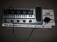 Zoom G5 Guitar Effects & Amp Simulator (as New Condition)