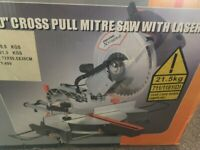 "1800 Watt Challenge Power Extreme 10"" Lasor Sliding Mitre Saw"