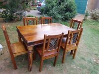 John Lewis Maharani Dining Table and 6 Chairs.