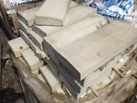 25 x Once Weathered Angled Coping Stones