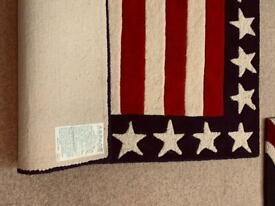 ASPACE Stars and Stripes Rug Hand Made Tufted Wool