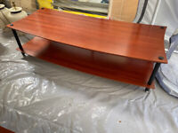 TV Table Solid Wood or Coffee Table - Two Tier Cherry