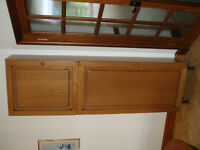 Tall oak door cupboard
