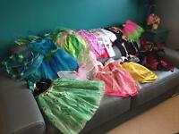 Bundle of girls dress up costumes