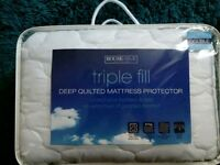 Deep quilted mattress protector (brand new)