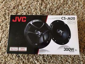 "JVC CS-J620X 6.5"" 16cm 2 Way 600 Watts Car door speakers, Speaker Brackets & wire adapters"
