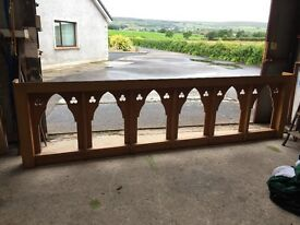 2 Reclaimed Pitch Church Balcony Gallery Balustrade Rail Landing Panel