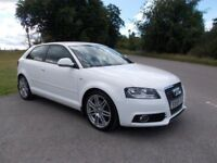 2009 59 AUDI A3 1.8 TFSI S-LINE 3 DOOR IN BRILLIANT WHITE CALL 07791629657