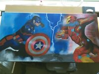 Captain America civil war painting