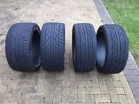 4 x Falken BMW Tyres 275 35 19 and 245 40 19. Fits 635D 630i 645Ci M6 520i 520D 530D 535D M5