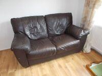 black leather 2seater sofa.