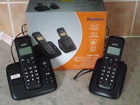 Binatone Solas 1520 Digital Cordless Telephones with Answer machine.