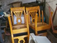 set of 6 qood quality heavy dining chairs £75 the lot