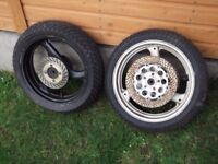 suzuki gsxr400r/suzuki rgv250 250 wheels with unused racing wets