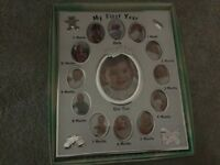 Baby date photograph frame