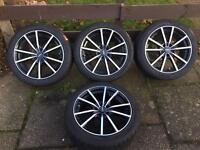 """5x108 17"""" Alloys with tyres nearly brand new. Ford Focus, Renault, Citroen, Peugeot"""