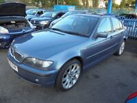 BMW 318i SE 1796cc 4 DOOR SALOON 2004-04 FINISHED IN METALIC BLUE, PART SERVICE HISTORY