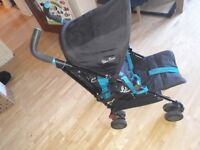 Silver Cross pop stroller in Teal - bears - for Sale