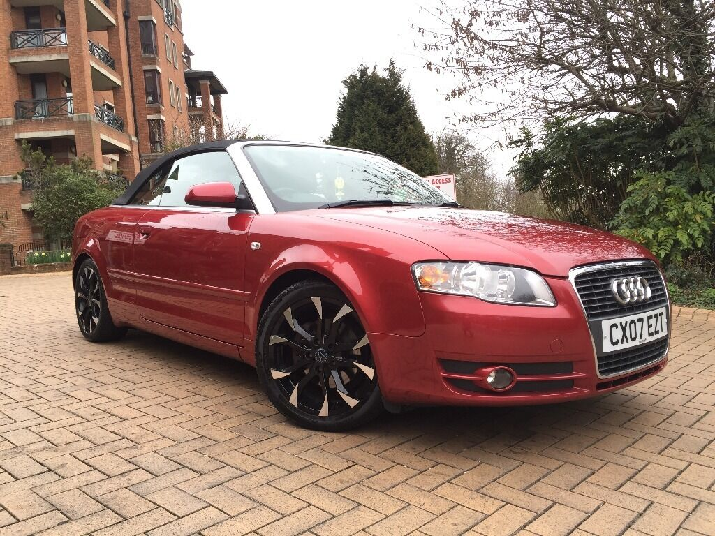 2007 audi a4 cabriolet 2 0tdi sport 140 bhp 6sp sport convertible cabriolet mint condition. Black Bedroom Furniture Sets. Home Design Ideas