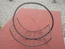 VERY OLD and ATTRACTIVE LOG CRADLE/BASKET - RETRO - INDUSTRIAL - collection from EX38 area