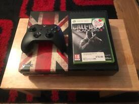 XBOX ONE, 500GB. BLACK. + 1 GAME...!!!