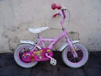Kids Bike by Apollo, Pink, 12 1/2 inch Wheels Great for Kids 3+ Years JUST SERVICED / CHEAP PRICE!!