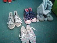 Bundle of girls shoes - size 12 UK - great bargain!