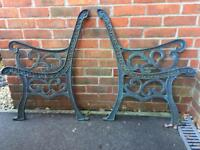 Cat iron garden bench ends- very heavy!