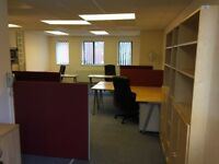 Furnished office 6 desks, small kitchen, common entrance and toilet, self contained 41sqm (380sqft)