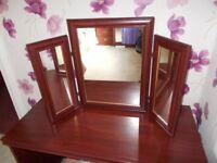 dressing table triple mirror