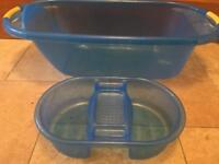Baby Bath and top 'n' toe wash bowl for sale